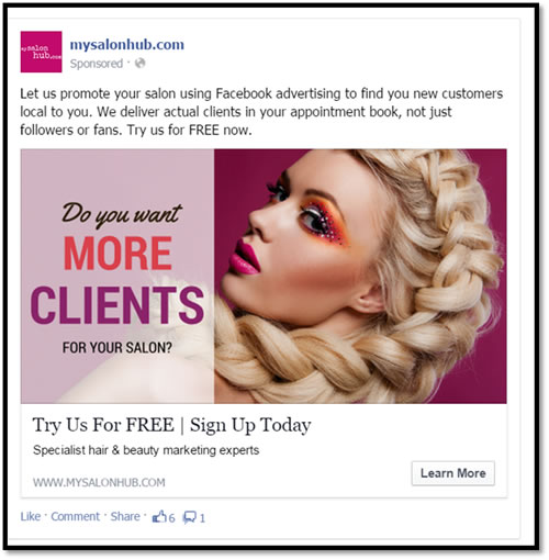 salon adverts